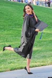 Eva Longoria is a Happy Graduate!